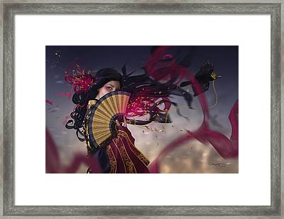 Raven Framed Print by Cassiopeia Art