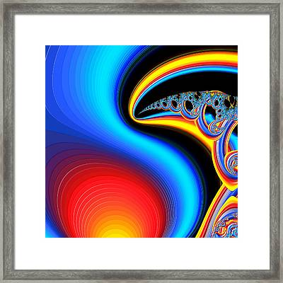 Raven, Dreaming By The Fire Framed Print