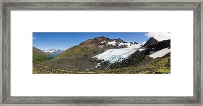 Raven Glacier At Crow Pass Framed Print