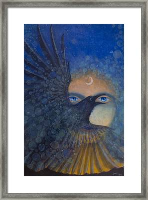 Raven Heart Framed Print