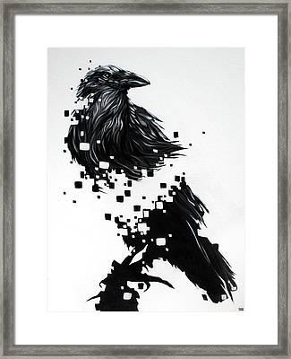 Raven Framed Print by Jeremy Scott