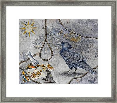Raven Lore Framed Print by Sandy Clift