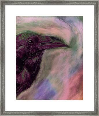 Raven Moon Framed Print
