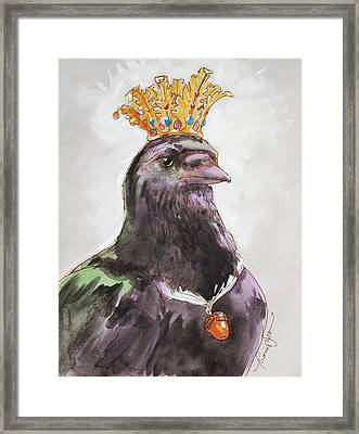 Raven Queen Framed Print by Tracie Thompson