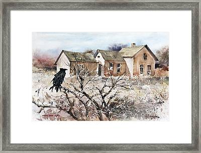 Raven Roost Framed Print by Monte Toon
