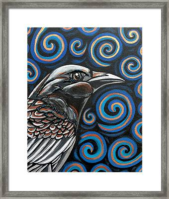 Framed Print featuring the painting Raven by Sarah Crumpler