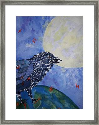 Raven Speak Framed Print