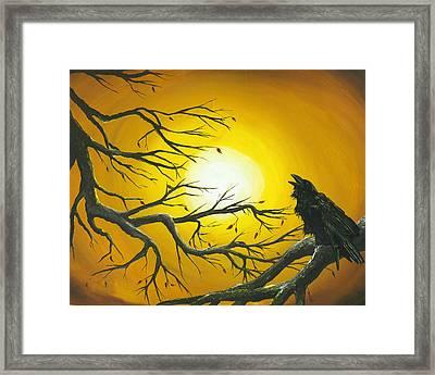 Raven Sun. Framed Print by Kija  Elstad