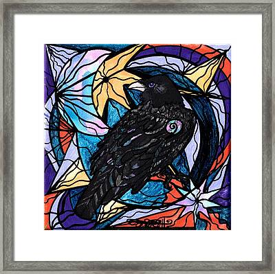 Raven Framed Print by Teal Eye  Print Store