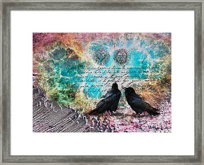Raven Whispers In The Nowhere Framed Print