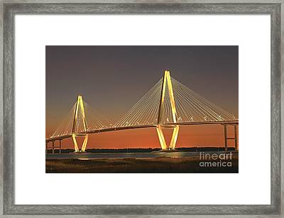 Ravenel Bridge At Dusk Framed Print
