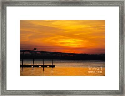 Orange Blaze Framed Print by Dale Powell