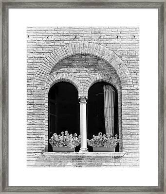 Ravenna Window Mono Framed Print