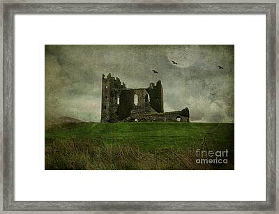 Raven's Castle Framed Print by Terry Rowe