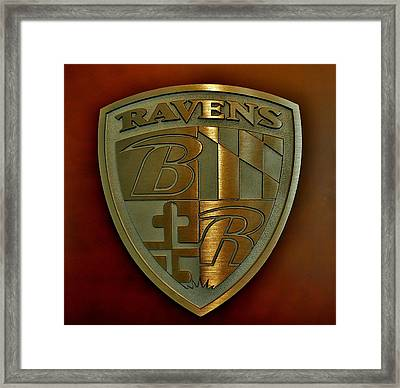 Ravens Coat Of Arms Framed Print
