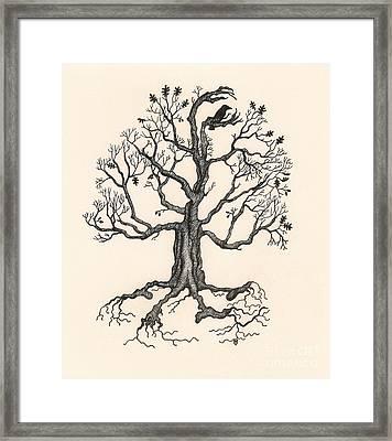 Raven's Magic Oak Framed Print
