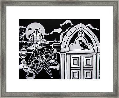 Ravens' Mask Framed Print by Jan Wendt