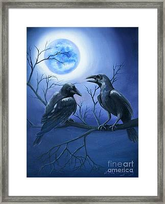 Raven's Moon Framed Print