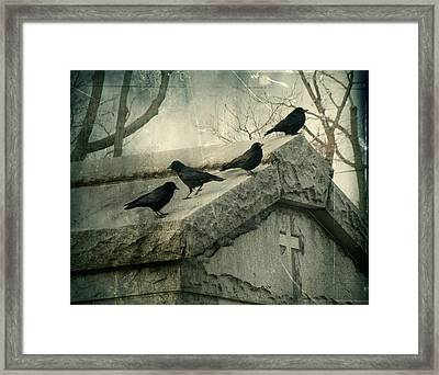 Ravens On A Gray Day Framed Print
