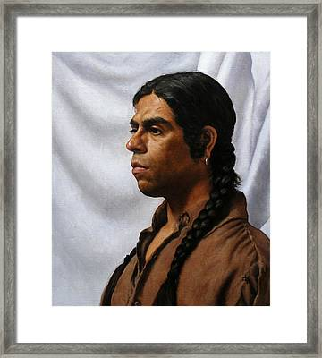 Raven's Portrait Framed Print by Deborah Allison