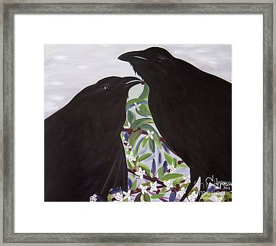 Ravens Song Framed Print