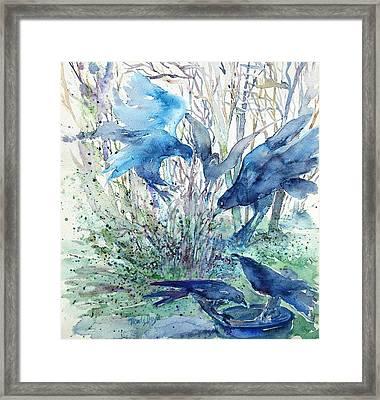 Ravens Wood Framed Print by Trudi Doyle
