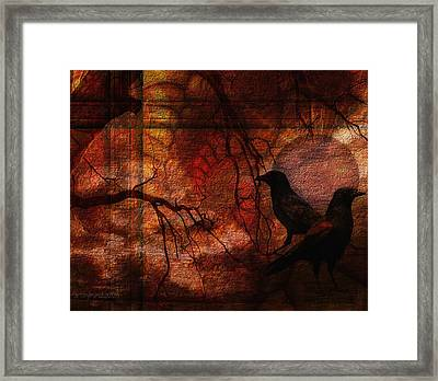 Ravens World Edited Framed Print