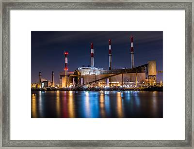 Ravenswood Generating Station Framed Print