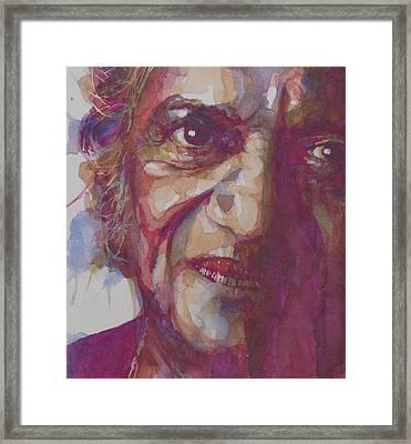 Ravi Shankar Framed Print by Paul Lovering
