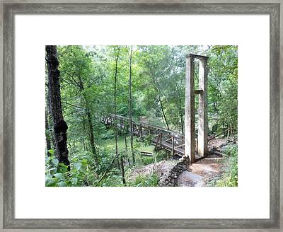 Ravine Bridge 1 Framed Print by Kay Gilley