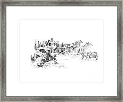 Ravine Winery Framed Print by Steve Knapp