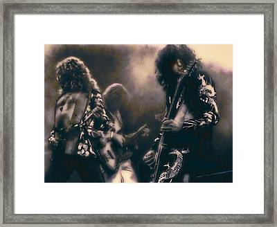 Raw Energy Of Led Zeppelin Framed Print by Daniel Hagerman