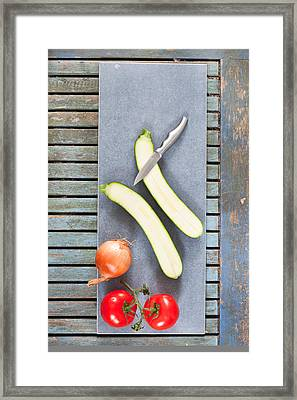 Raw Ingredients Framed Print