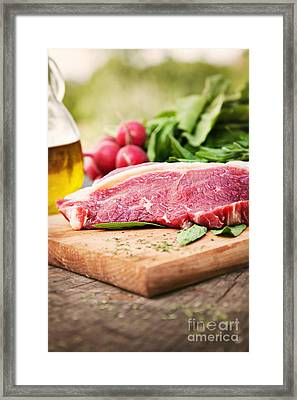 Raw Meat Framed Print