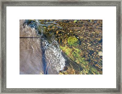 Raw Sewage Mixing With Clean Water Framed Print by Ashley Cooper