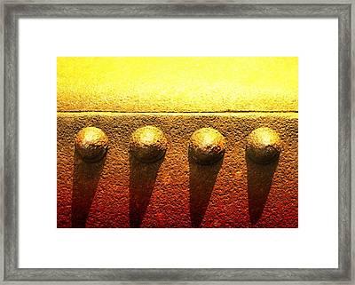 Raw Steel 4 Framed Print by Tom Druin