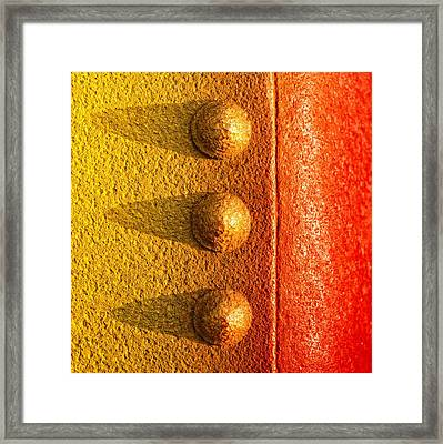 Raw Steel Framed Print