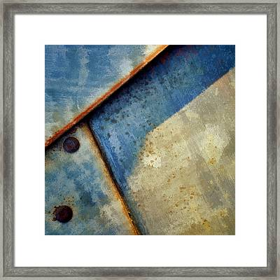 Raw Steel...blue Framed Print