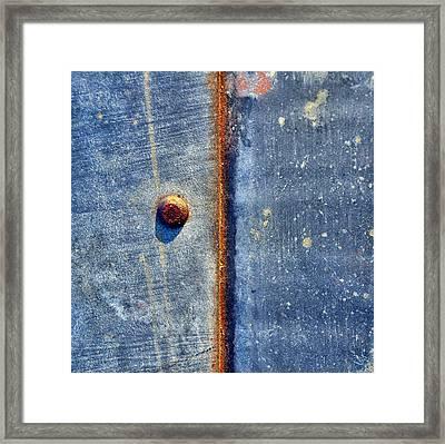 Raw Steel...half Full Framed Print by Tom Druin