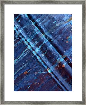 Raw Steel...upstream Framed Print