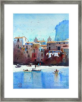 Rawer At Cefalu Framed Print by Andre MEHU