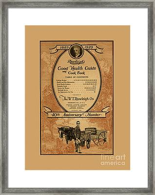Rawleighs Good Health Guide And Cook Book 1928 Framed Print by Anne Kitzman