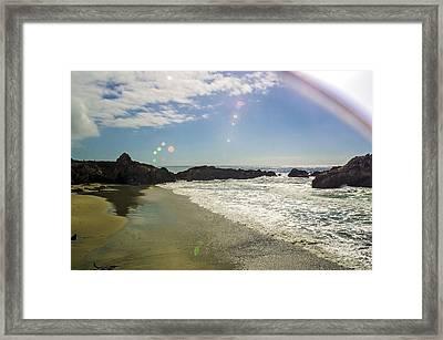Ray Ban Burst Framed Print by Nathan Anglin