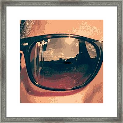Ray Ban Vision Framed Print by Mark Blanton