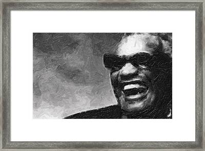 Ray Charles And That Smile Framed Print