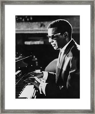 Ray Charles At The Piano Framed Print