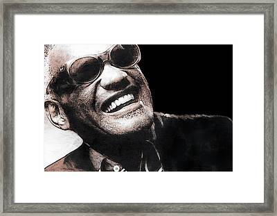 Ray Charles Framed Print by Daniel Hagerman