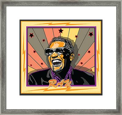 Ray Charles Framed Print by Larry Butterworth