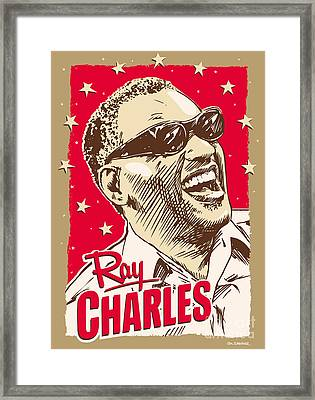Ray Charles Pop Art Framed Print