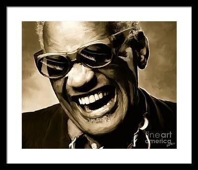 Soul Music Ray Charles Framed Prints